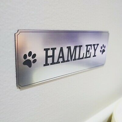 Pet Name Plate Dog Kennel Name Plaque House Name Number Cat Dog Name Adhesive