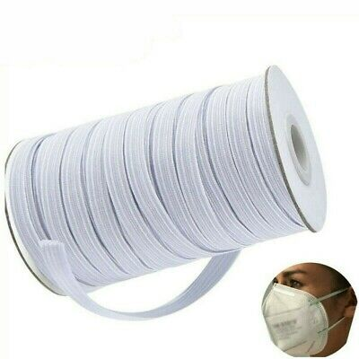 """50yds 1/4"""" ELASTIC BLACK/WHITE FOR WAISTBANDS CUFF SEWING DRESSMAKING TAILORING~"""