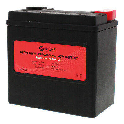 Sealed AGM Battery High Performance BMW Kymco Piaggio Gilera Suzuki GYZ16H