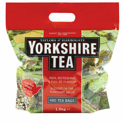 Taylor's Yorkshire Tea 480 Soft Water  Teabags 1.5kg  Next Working Day Delivery