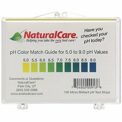 NaturalCare, pH Test Strips Level, 100 Strips