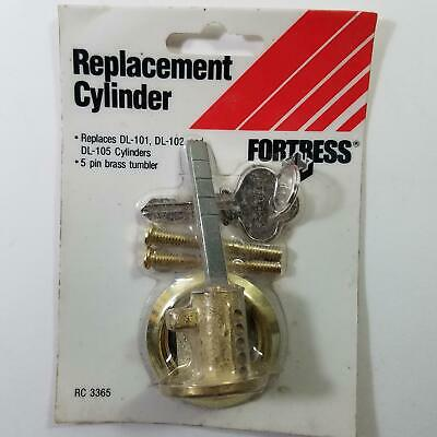 Fortress RC3365 NOS 5 Pin Replacement Cylinder Brass for DL-101 DL-102 DL-105