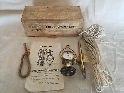 Vintage Negus Improved Patent Yacht Log Nautical, Ship