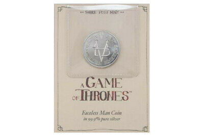Game of Thrones Faceless Man Coin Pure Silver 99.9 Shire Post Mint Arya Stark