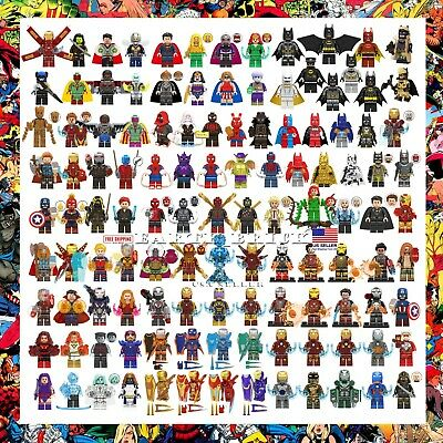 200+ Marvel Avengers Minifigures Iron Man Batman Spiderman X-Men DC Hulk Thanos