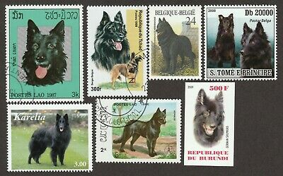 BELGIAN SHEEPDOG GROENENDAEL * Int'l Postage Stamp Art Collection **Gift Idea **