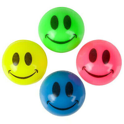 "Halloween 1728 super balls bounce 27mm 1/"" GLOW IN DARK SMILE FACE BALL USA FAST"