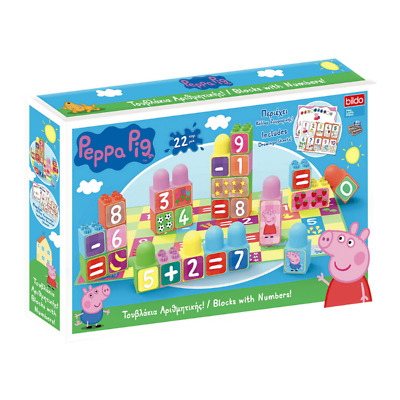Peppa Pig Learn The Numbers Block Board & Stickers Playset Age 3+ Brand New