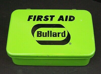 First aid kit, Bullard, new ANSI contents, metal box