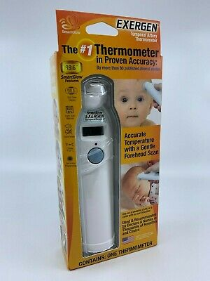 Exergen Temporal Artery Thermometer with SmartGlow Features - Brand New Sealed