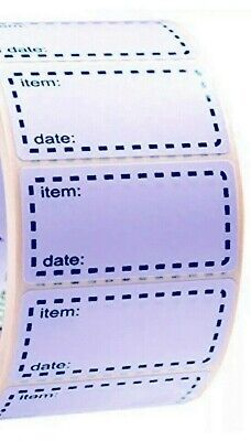 100 x FREEZER LABELS BLUE  50mm x 25mm  LABELS WITH EASY TEAR PERFORATIONS