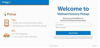 Walmart $10 Off Your First Grocery Order Online Email link NEW CUSTOMERS ONLY