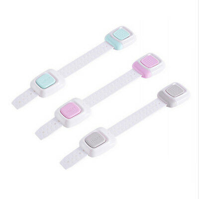 Adhesive Door Cupboard Cabinet Fridge Drawer Safety Locks For Baby Kids Child MP