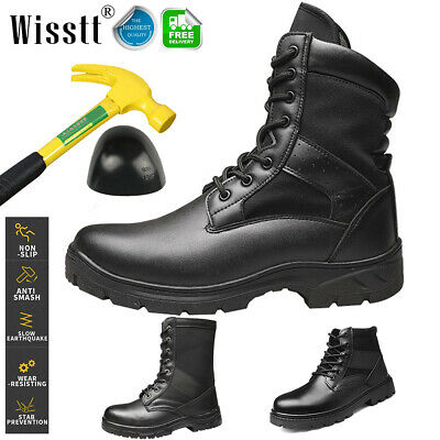 Men's Work Steel Toe Boots Safety Shoes Indestructible Outdoor Military Tactical