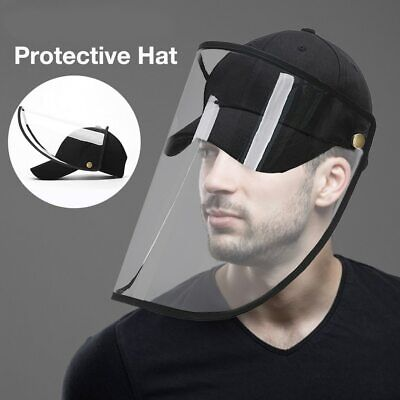 Black Safety Full Face Shield Hat Glasses Protector Anti-Fog Dental Protection