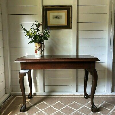 Antique 19th C Mahogany Ball & Claw Feet Hall Console Table FREE DEL ENG/WALES