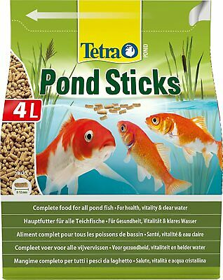 Aliment Poisson TETRA Pond Sticks - Aliment Complet en sticks pour Bassin - 4L