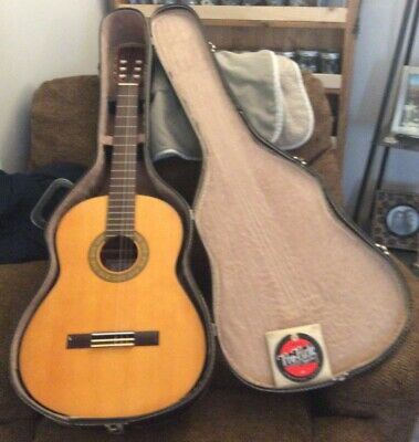 Vntg Cortez Classical Acoustic Guitar Model G-80 Made in Japan + Case & Strings