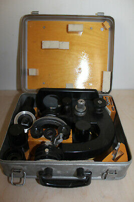 LOMO Polarising Microscope Travel MPD 1 Metall Case Petrological  #2