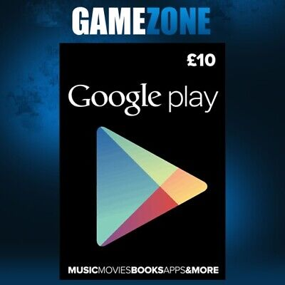 £10 Google PLAY Store UK Gift Card - 10 Pounds Google Play Android GBP Key Code