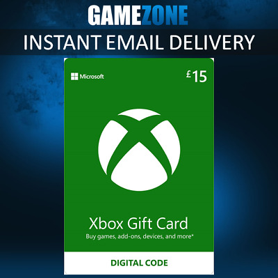 Microsoft Xbox Live £15 GBP UK Gift Card Points Pounds For Xbox 360 / Xbox One