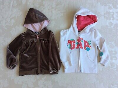 2 x Gap Girls Zip Up Hoodies 1x 3 years  & 1x 4 years in great condition