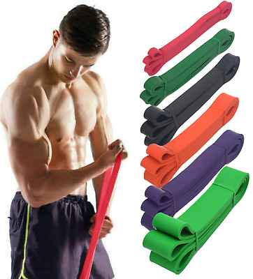 Heavy Duty 208cm Resistance Bands Loop Exercise Sport Fitness Tube Home Yoga Gym