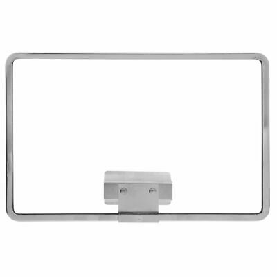 "HUBERT Clip-In Sign Frame Sign Holder Chrome-Plated Steel Horizontal - 11""L x"