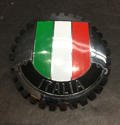 "Vespa Piaggio ""ITALIA"" Horncast Badge For Moden Large Frame Scooter 4"" Diameter"