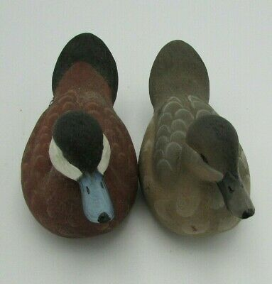 American Wildlife Collection Ruddy Drake & Hen Duck Signed (E-2)