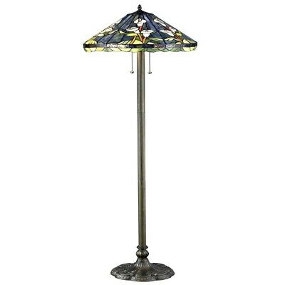 """60"""" Elegant Home Lighting Decor Tiffany-Style Stained Glass Accent Floor Lamp"""