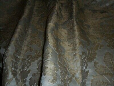 Vintage French brocade,pale blue with gold medalions.Scotchgard treated fabric.