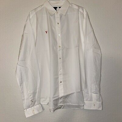 Vlone x Playboi Carti Red VLONE Embroidered White Shirt Button Up Size XL