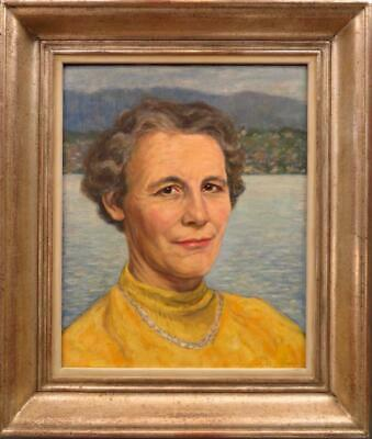 Walter Theodor GUGGENBÜHL (1898-1974) Swiss Portrait Oil Painting ARTISTS WIFE