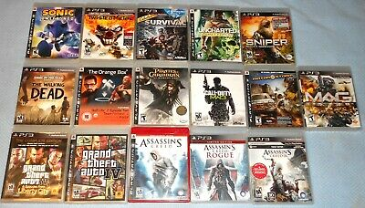 *PlayStation 3 GAME LOT* Assassins Creed, Grand Theft Auto, Sonic, Sniper, ETC.