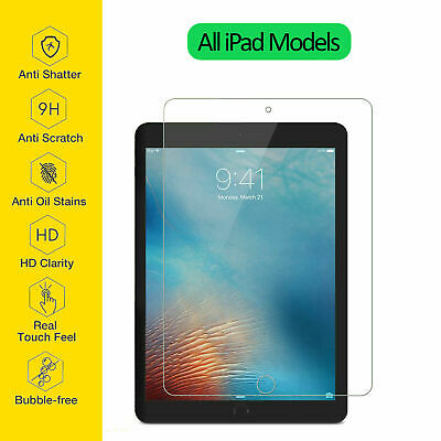 Tempered Glass Film Screen Protector For Apple iPad 1 2 3 4 Mini Air Pro 10.2