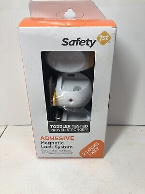 Safety 1st Adhesive Magnetic Lock System with 2 Locks and 1 Key BNIB