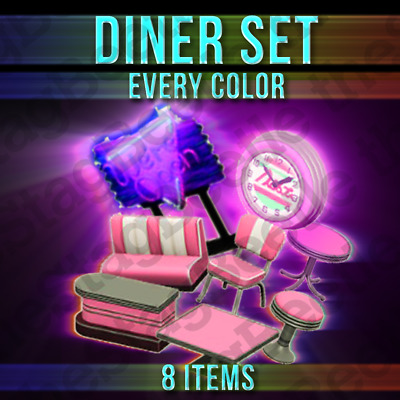 Animal Crossing New Horizons : DINER 50's FULL SET | Années 50 | Furniture Items
