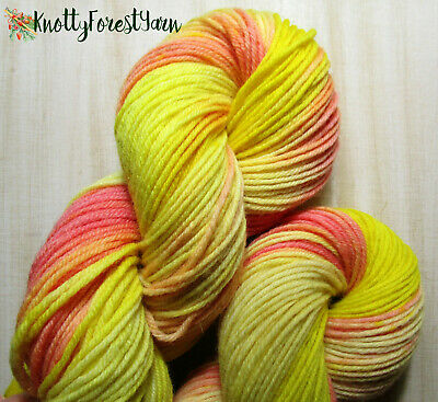 Hand Dyed Yarn SEASON OF THE WITCH Cottage Wool Pure Highland Worsted Yarn 218y