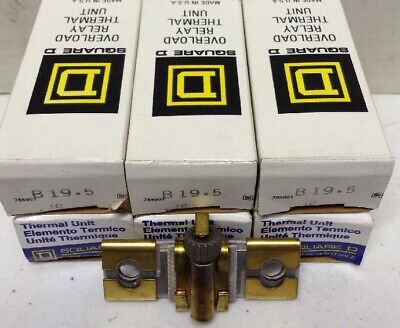Square D B19.5 Overload Relay Thermal Unit LOT OF 6