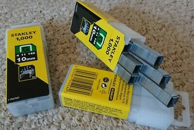 "Stanley Heavy Duty Staples (10mm 3/8"") 1000 per pack STA1TRA706T"
