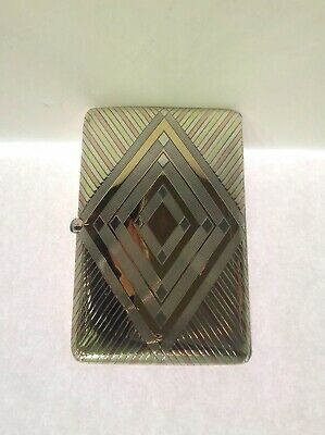 Art Deco Sterling Silver And Gold Cigarette Case. France. Antique