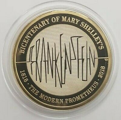 2018 The Royal Mint Mary Shelley's Frankenstein Two Pounds £2 coin PROOF UK