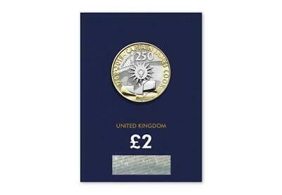 Royal Mint Captain James Cook 2019 UK Brilliant £2 Two Pound Coin On a Blue Card
