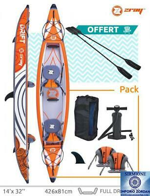 Canoa kayak Z Ray Drift  Top gonfiabile 2 p Pagaie in Drop Stitch rigidissima