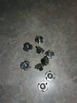 3 Prong T Nut 8-32 (Tee Nut) 50 PC. High Quality Zinc Plated