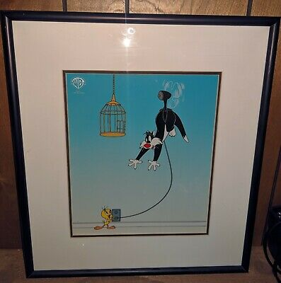 Sylvester Unplugged - Limited Edition Sericel - Warner Brothers Studios w/ COA