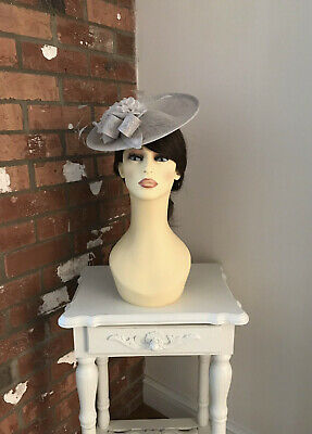 John Charles Fascinator, Wedding Occasion, Formal Races In Silver NWT