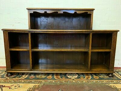 Superb Quality Antique Oak Open Bookcase/Bookshelves/Display