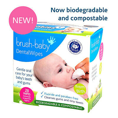 Brush-Baby Dental Wipes for Babies - Pack of 3 Offer